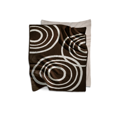 Nook Sleep Systems Organic Knit Blanket Bark Brown