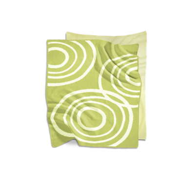 Nook Sleep Systems Organic Knit Blanket Lawn Bright Green