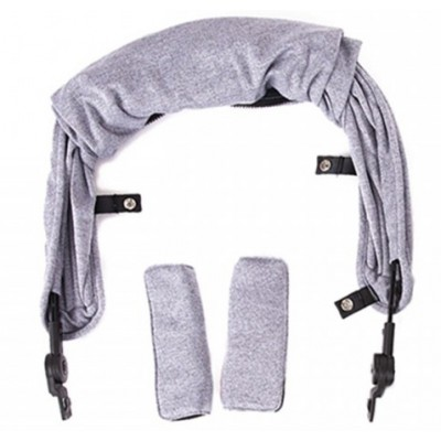 Baby Monster Kuki Canopy - Heather Grey