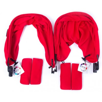 Baby Monster Easy Twin 3S Reversible Canopy - Red