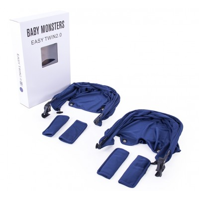 Baby Monster Easy Twin 3S Reversible Canopy - Midnight