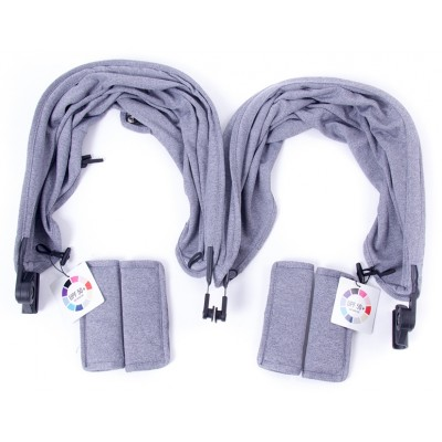 Baby Monster Easy Twin 3S Reversible Canopy - Heather Grey