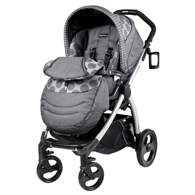 Peg Perego Book Plus Stroller in Stone Pois Grey