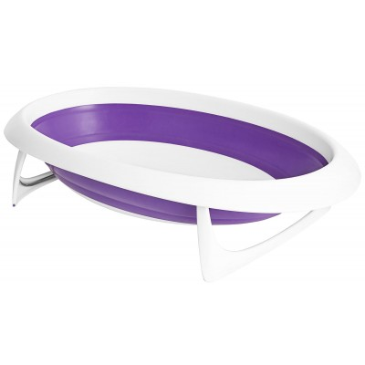 Boon NAKED 2-Position Collapsible Baby Bathtub - Purple & White