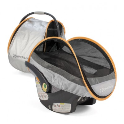 UPPAbaby Cabana Infant Car Seat Protector - Mica Silver