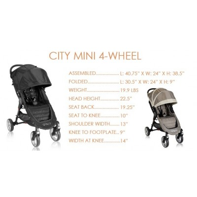 Baby Jogger City Mini Four Wheel Lightweight Easy Fold Stroller