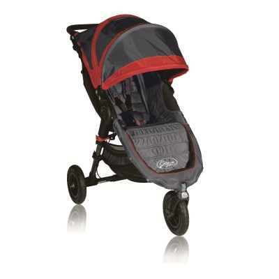 Baby Jogger City Mini GT Lightweight Easy Fold Stroller Shadow/Crimson