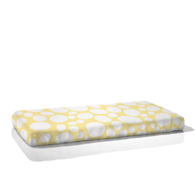 Nook Organic Fitted Crib Sheet Riverbed Daffodil Light Yellow