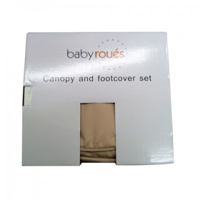 Baby Roues Canopy/Footcover set leTour - Grey