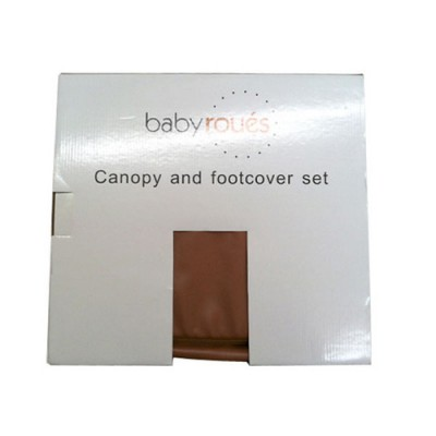 Baby Roues Canopy/Footcover set leTour lux - Brown Leather