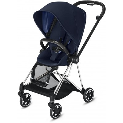 Cybex Mios 2 Travel System Chrome/Black Frame + Indigo Blue Seat