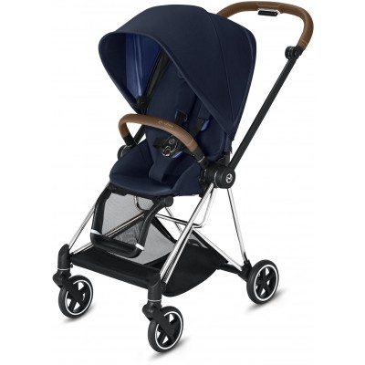 Cybex Mios 2 Travel System Chrome/Brown Frame + Indigo Blue Seat