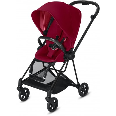 Cybex Mios 2 Travel System Matte Black Frame + True Red Seat