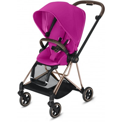 Cybex Mios 2 Travel System Rose Gold Frame + Fancy Pink Seat