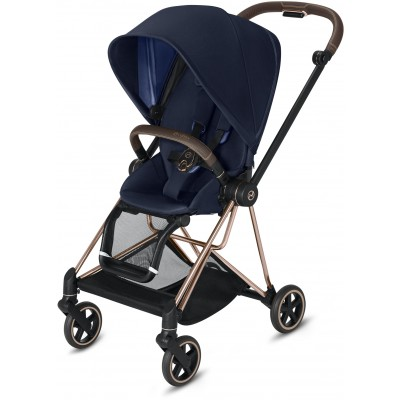 Cybex Mios 2 Travel System Rose Gold Frame + Indigo Blue Seat