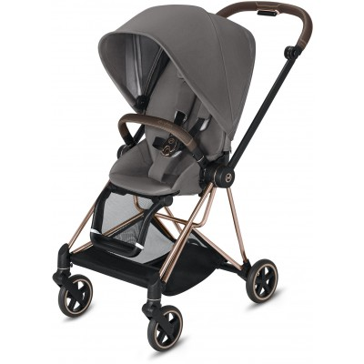 Cybex Mios 2 Travel System Rose Gold Frame + Manhattan Grey Seat