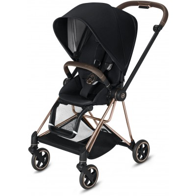 Cybex Mios 2 Travel System Rose Gold Frame + Premium Black Seat