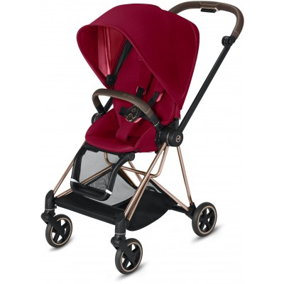 Cybex Mios 2 Travel System Rose Gold Frame + True Red Seat