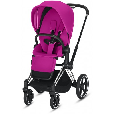 Cybex Priam 3 (3-In-1) Travel Syestem Chrome/Black frame + Fancy Pink seat