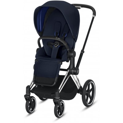 Cybex Priam 3 (3-In-1) Travel Syestem Chrome/Black frame + Indigo Blue seat