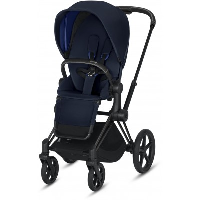 Cybex Priam 3 (3-In-1) Travel Syestem Matte Black frame + Indigo Blue seat