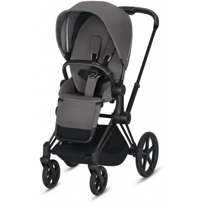 Cybex Priam 3 (3-In-1) Travel Syestem Matte Black frame + Manhattan Grey seat