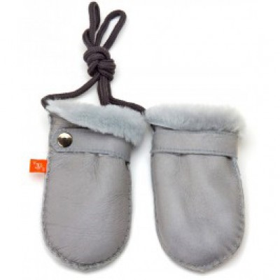 Elks and Angels Love Winter Baby Shearling Mitten Dove Gray