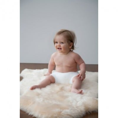 Elks and Angels Baby Sheepskin Rug Unshorn