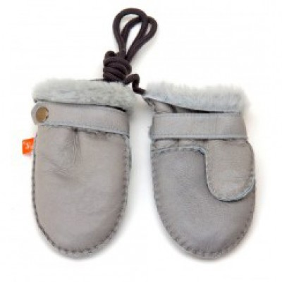 Elks and Angels Love Winter Shearling Toddler Mittens Dove Gray