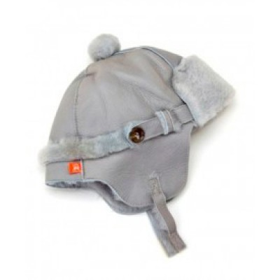 Elks and Angels Love Winter Shearling Trapper Hat Dove Gray