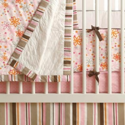 JJ Cole Four Piece Crib Set - Pink Craze