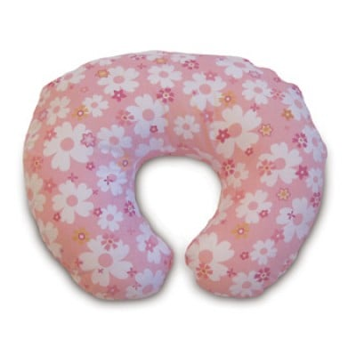 Boppy Support Pillow With Cotton Blend Slipcover - Paper Flowers