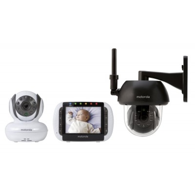 """Motorola MBP36/FOCUS360 Baby Monitor with Outdoor Accessory Camera and 3.5"""" Color LCD Screen"""