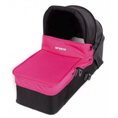 Baby Monster Carrycot with Lid - Fuchsia