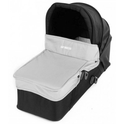 Baby Monster Carrycot with Lid - Gray