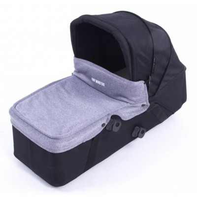 Baby Monster Carrycot with Lid - Heather Grey