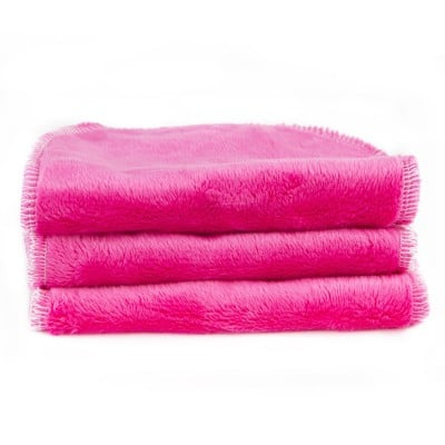Blooming Bath Petals Baby Bath Washcloths Hot Pink