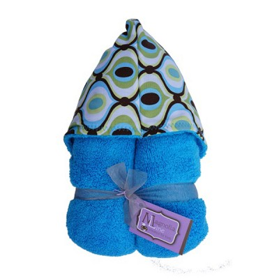 Magnolia Line Hooded Towel Royal Terry- Marina Wave Hood