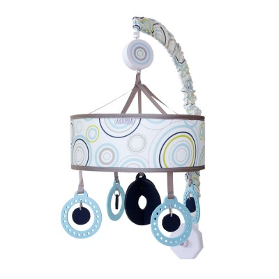 JJ Cole Musical Mobile for Crib - Sky Orbit Blue