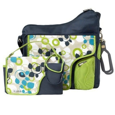 JJ Cole System 180 Diaper Bag - Blue Vine
