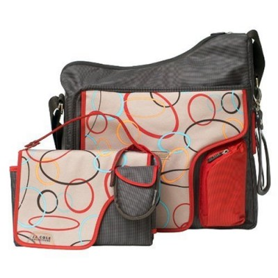 JJ Cole System 180 Diaper Bag - Cocoa / Oval