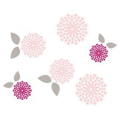 JJ Cole Wall Decal - Sweet Primrose Pink