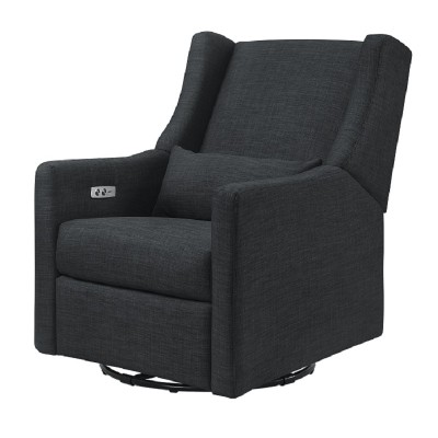 Babyletto Kiwi Glider Recliner with Electronic Control and USB in Coal Grey