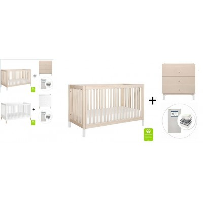 Babyletto Gelato 4-in-1 Convertible Crib, Toddler Conversion Kit, 3-Drawer Changer Dresser and Removable Changing Tray with Start Super Firm Mattress