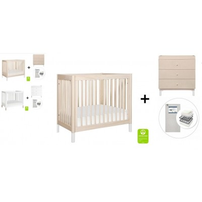 Babyletto Gelato 2-in 1 Mini Crib and Twin bed, 3-Drawer Changer Dresser and Removable Changing Tray with Start Super Firm Mattress