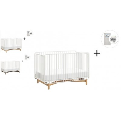 Babyletto Bixby Metal Crib, Toddler Bed Conversion Kit with Start Super Firm Mattress