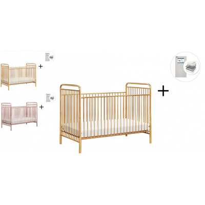 Babyletto Jubilee 3-in-1 Convertible Metal Crib with Start Super Firm Mattress