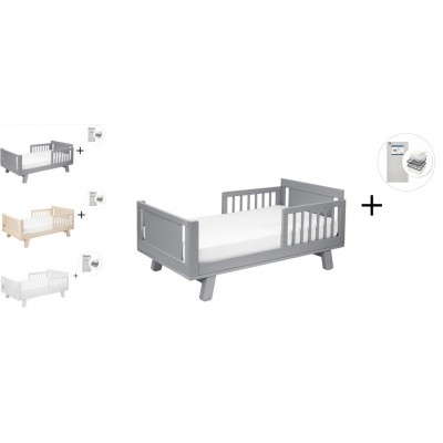 Babyletto Hudson Crib and Junior Bed Conversion Kit Bundle with Start Super Firm Mattress