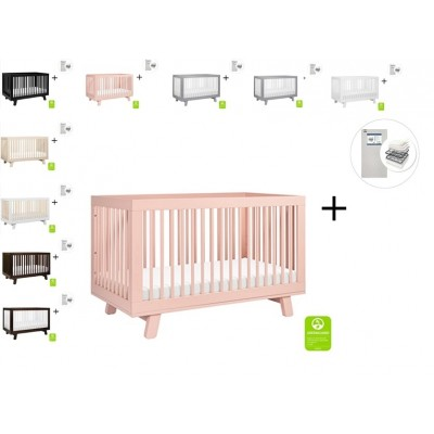Babyletto Hudson 3-in-1 Convertible Crib, Toddler Bed Conversion Kit with Start Super Firm Mattress
