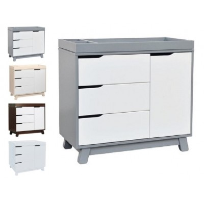 Babyletto Hudson 3-Drawer Changer Dresser, KD w/Removable Changing Tray